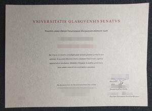 Fake Vniversitatis Glasgvensis Senatvs certificate