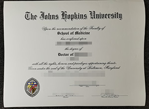 Johns Hopkins University diploma
