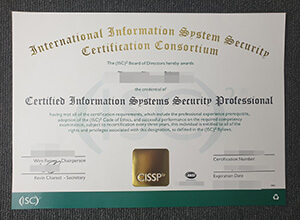 How long does it take to get fake CISSP certification? buy fake certificate