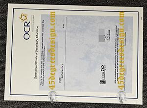 OCR GCSE certificates
