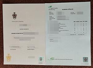 fake York St John University master degree and transcript