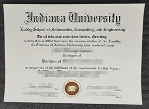 Indiana University Bloomington diploma