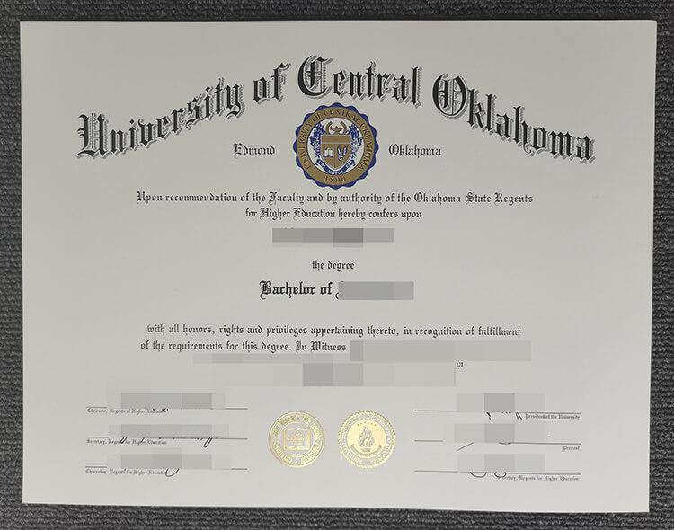 University of Central Oklahoma degree