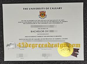 University of Calgary degree certificate