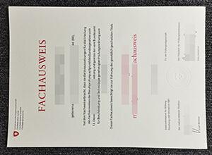 Fachausweis Certificate