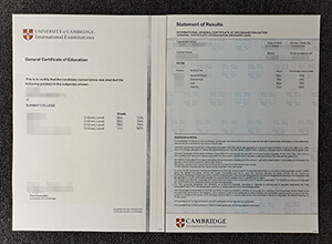 University of Cambridge International Examinations GCE certificate
