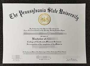 Pennsylvania State University diploma