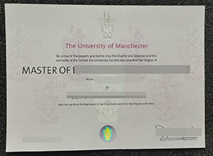 Making University of Manchester degree in England