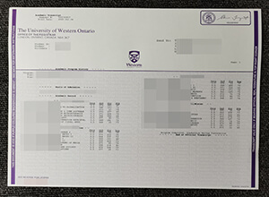 UWO fake Transcript,  buy University of Western Ontario transcript online