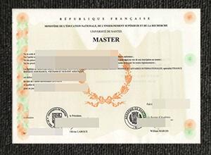 University of Nantes diploma