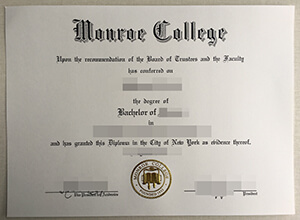 How to buy a fake Monroe College degree from New York ?
