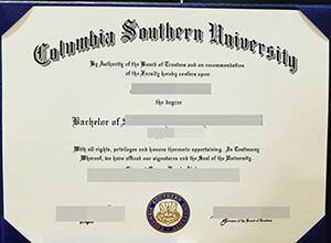 Fake Columbia Southern University degree form USA for sale