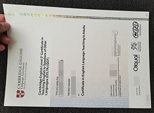 Cambridge English Language Assessment CELTA certificate