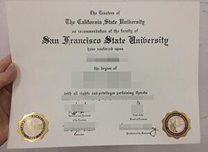 Obtain the fake SFSU degree, fake San Francisco State University diploma