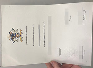 The fake James Cook University diploma from Australia for sale here