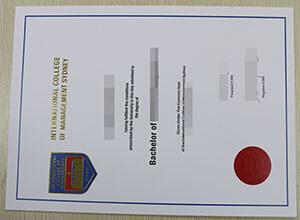 Fake ICMS diploma, Buy fake International College of Management Sydney degree