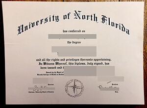 University of North Florida diploma