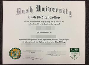 Rush University diploma