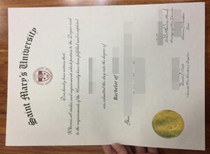 Saint Mary's University diploma