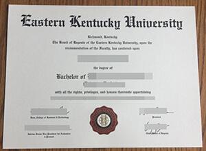 Order a fake Eastern Kentucky University diploma, Buy a fake EKU degree online