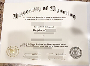 The University of Wyoming fake diploma sample, Buy UW degree online