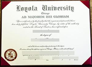 Loyola University Chicago diploma, Loyola University Chicago degree