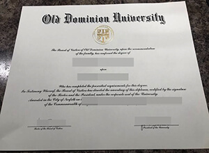 Purchase A fake Old Dominion University diploma, Copy a fake ODU degree