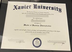 Xavier University diploma
