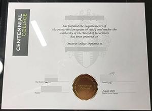 Centennial College diploma