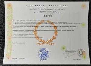 Université Grenoble Alpes diploma