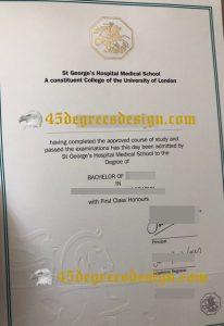 St George's Hospital Medical School Diploma