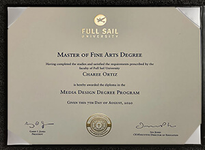 How long to get a fake Full Sail University degree certificate?