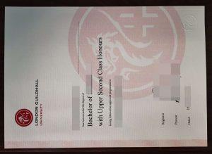 London Guildhall University diploma