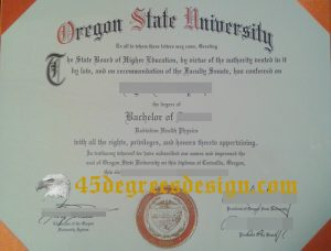 Fake Oregon State University Diploma