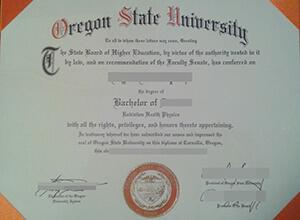 Fake Oregon State University Diploma Sample, buy OSU bachelor diploma
