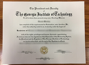 Georgia Tech diploma