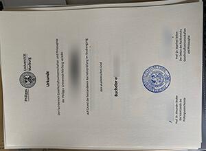 Philipps-Universität Marburg diploma