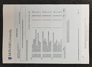 Monash University transcript