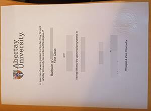 Abertay University diploma
