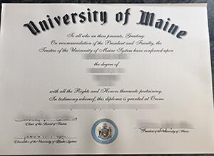 University of Maine diploma