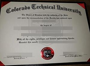 Colorado Technical University diploma