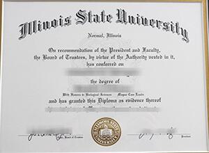 Illinois State University diploma