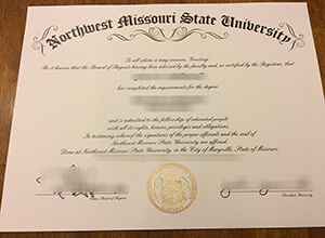 Order a fake Northwest Missouri State University diploma