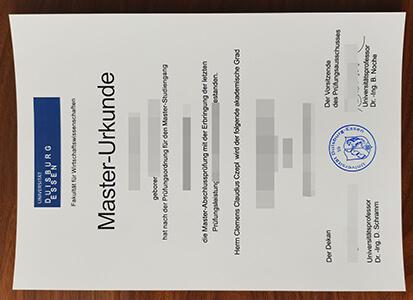 Universität Duisburg-Essen diploma