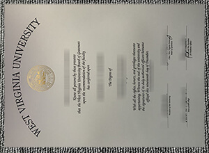 West Virginia University Fake diploma for sale. Buy a WVU degree from USA
