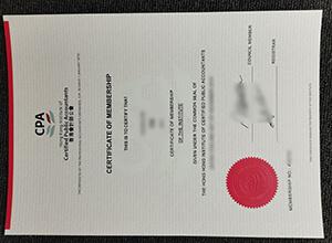 Hong Kong Institute of Certified Public Accountants certificate