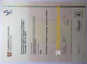 Buy fake CELTA certificate
