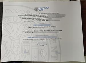 Universität Wien diploma