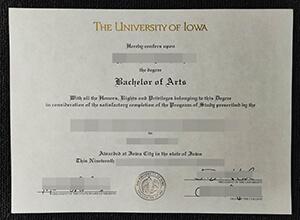 University of Iowa diploma
