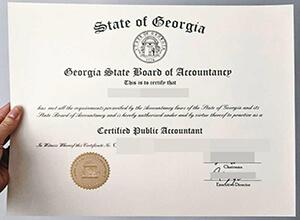 GEORGIA STATE BOARD OF ACCOUNTANCY CPA certificate,